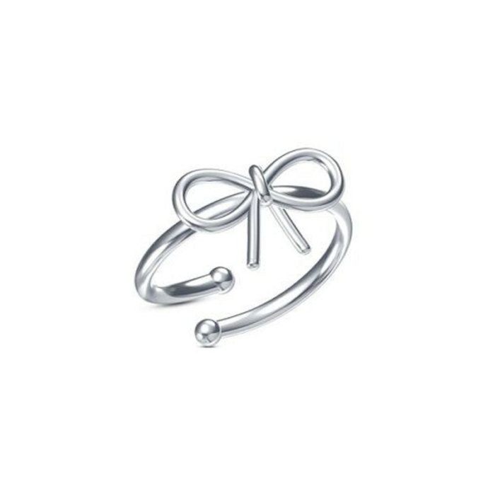 Infinity Ring, Bow Ring, 925 Sterling Silver Ring, Midi Ring, Adjustable Toe
