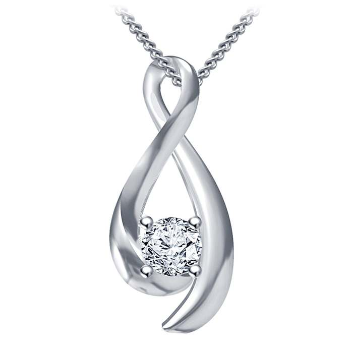 Simple Infinity Necklace for Women Forever Love Best Friends Promise Vertical