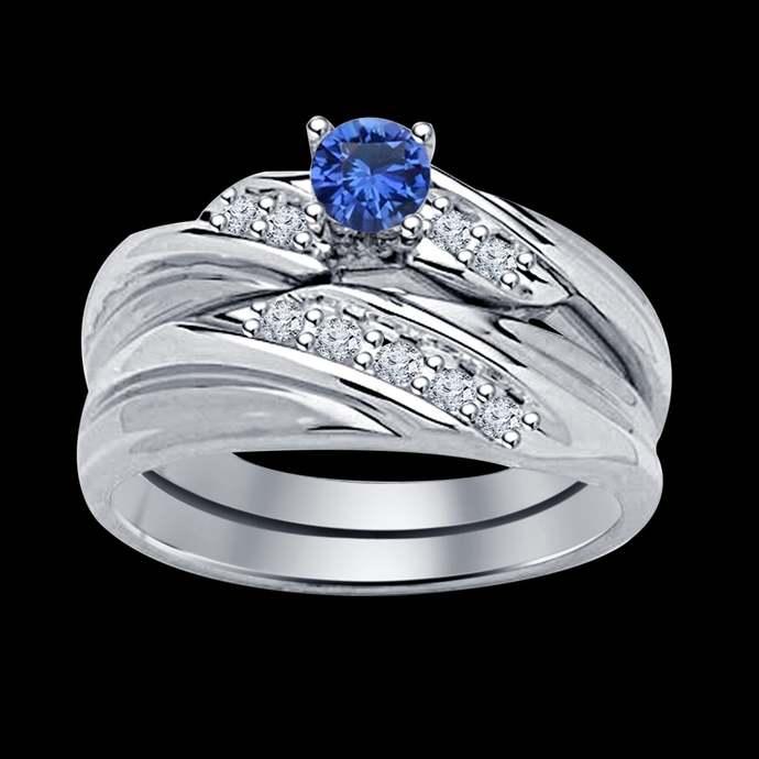 September birthstone ring blue sapphire gemstone Sterling Silver Ring