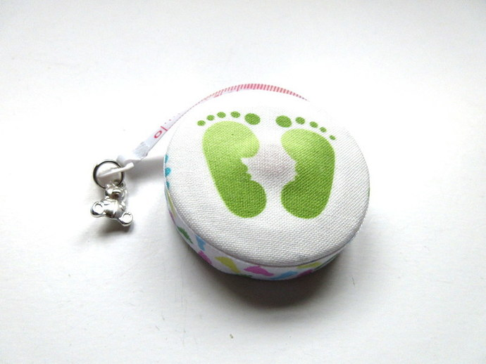 Tape Measure with Baby Foot Prints Retractable Measuring Tape