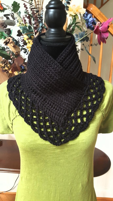 Crochet Chunky Lacy Cowl// crochet cowl, pullover neck warmer, handmade crochet,