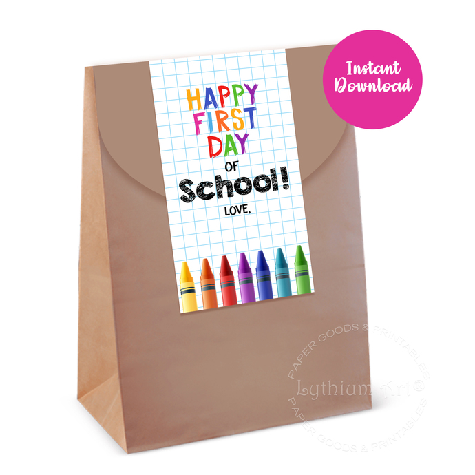 Back to School Gift Tags, Instant Download, Teacher Gift Tags, Happy First Day