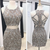 Two piece homecoming dress , beaded homecoming dress , open back homecoming