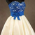 Stylish Blue Lace top Short Homecoming Dress, Junior Prom Gown