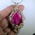 Beautiful pink druzy agate cabochon wire woven! Free shipping USA only