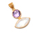 925 Sterling Silver Amethyst Rainbow Moonstone Loose Gemstone Pendant Jewelry