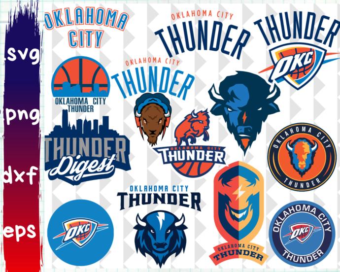 ClipartShop, Oklahoma City Thunder, Oklahoma City Thunder svg, Oklahoma City