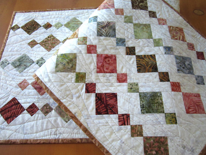 Table Runner Handmade Quilted Batik Gifts Home Decor