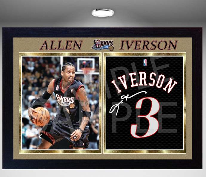 ALLEN Iverson Sixers Phila 76ers signed autograph Basketball photo print NBA