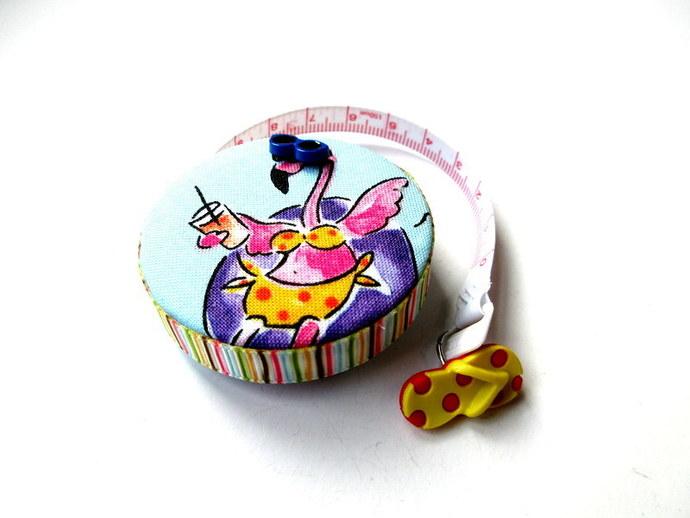 Retractable Tape Measure Vacation Flamingos Small Measuring Tape