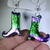 Limited edition Halloween Witches foil boots! Only 3 available free shipping USA