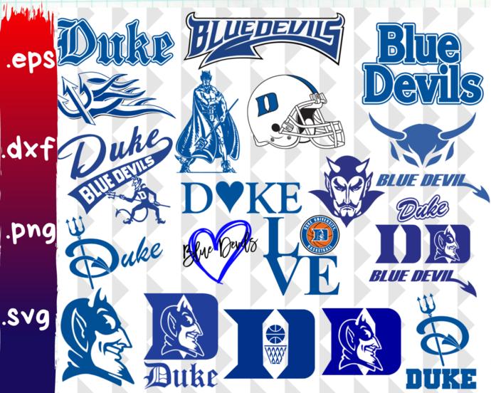 Duke University Blue Devils, Duke Blue Devils svg, Duke Blue Devils clipart,