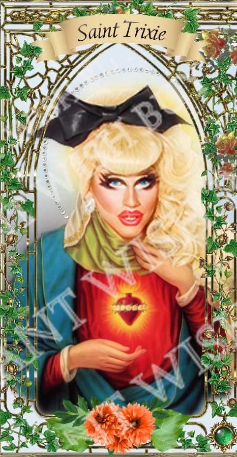 Shea Coulee of RuPaul's  Drag Race  - Drag Queens -  Celebrity Saint Prayer