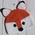 Crochet Fox Winter Beanie Hat