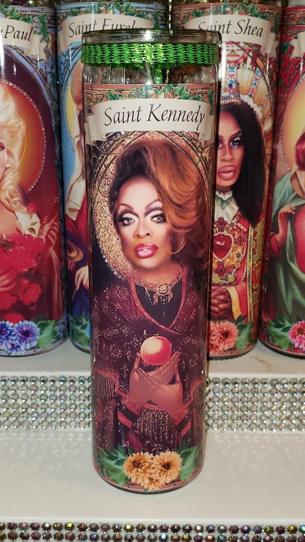 Sasha RuPaul's  Drag Race  - Drag Queens -  Celebrity Saint Prayer Candles