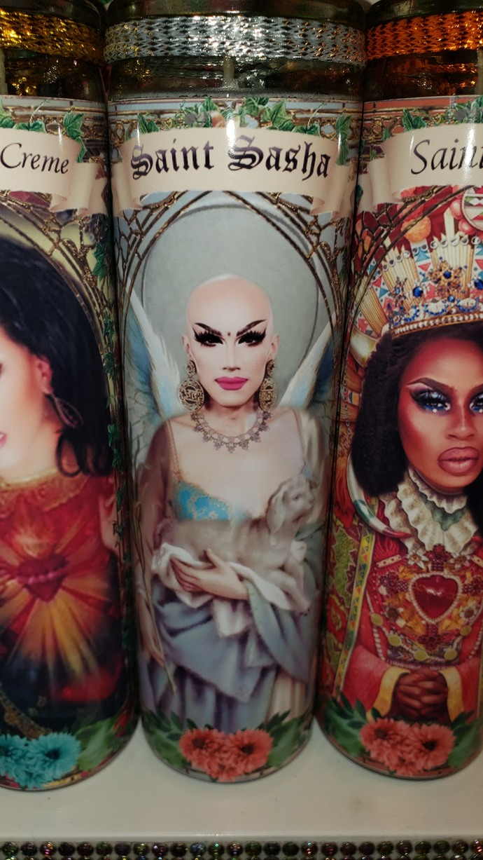 Sasha RuPaul's  Drag Race  - Drag Queens -  Celebrity Saint Prayer Candles