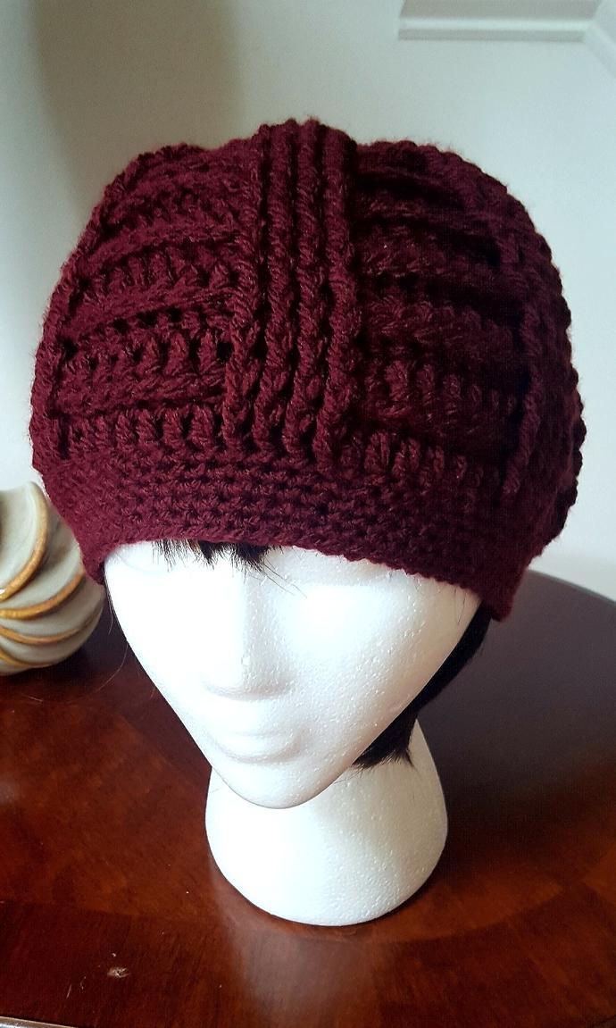 Crochet Beanie//Crochet Textured Beanie, Crochet Hat, Ladies Accessories