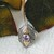Artisan Crafted Sterling Silver 18K Gold Ameythst Marcasite Ring