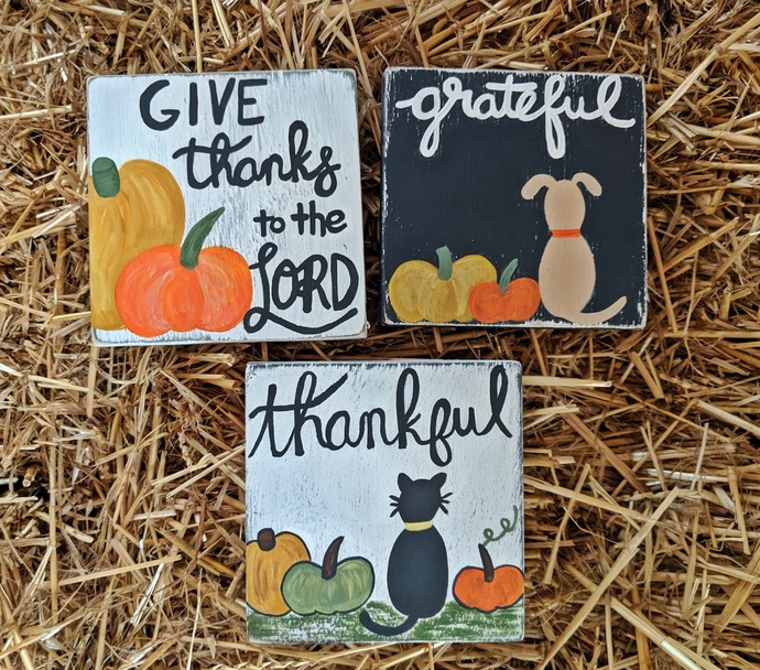 Wood Signs, Fall Signs, Fall Decor, Bible Verse, Grateful, Thankful, Give Thanks