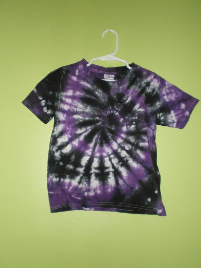 Purple/Black Tie Dye 5T T-Shirt