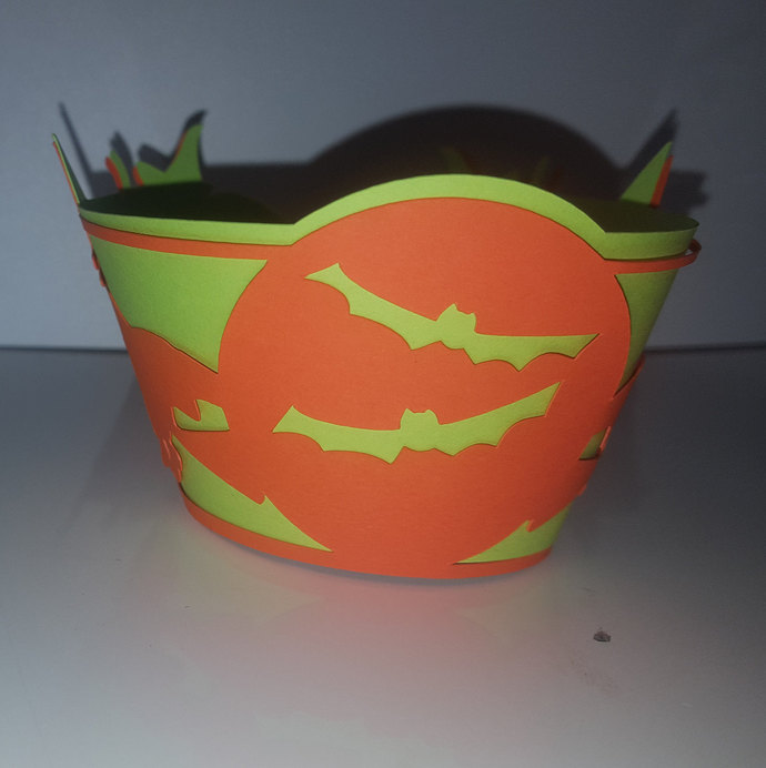 Halloween witch and bat multi layer cupcake wrappers (set of 12)