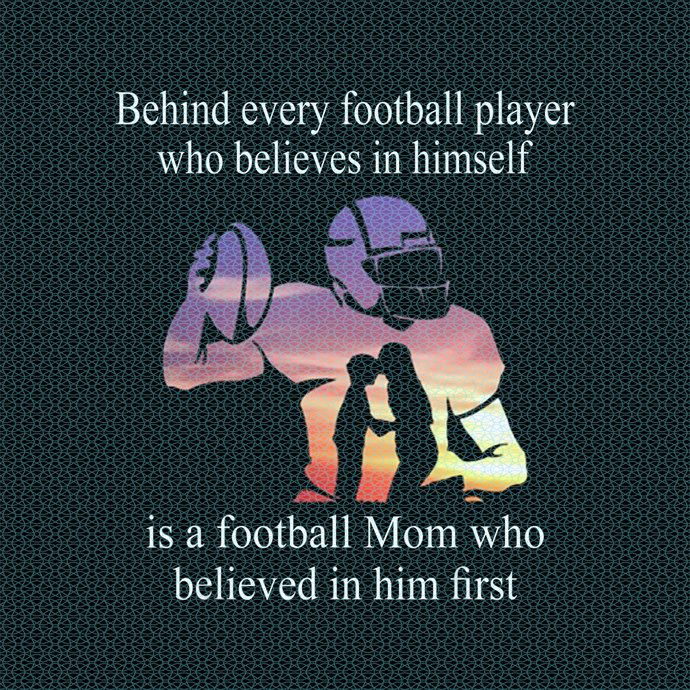 Behind Every Football Player - Family Mom Mother Gift PNG Download
