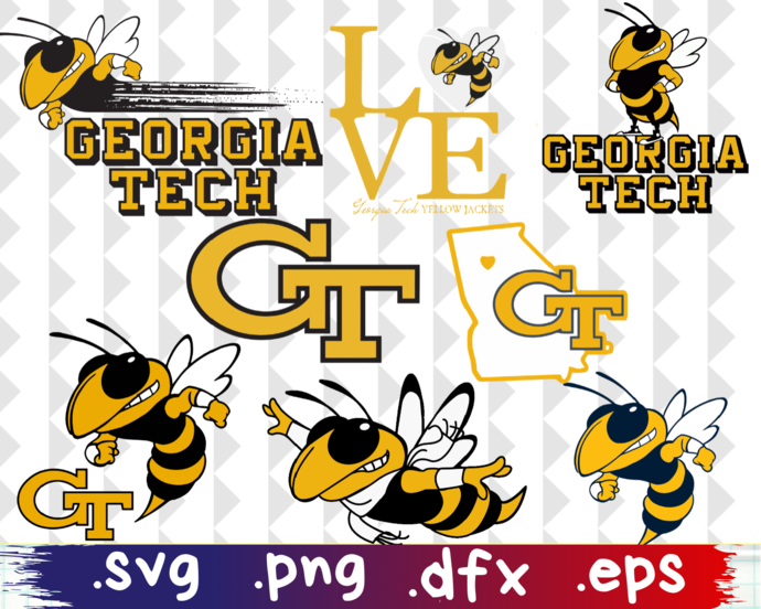 Georgia Tech Yellow Jackets, Georgia Tech Yellow Jackets svg, Georgia Tech