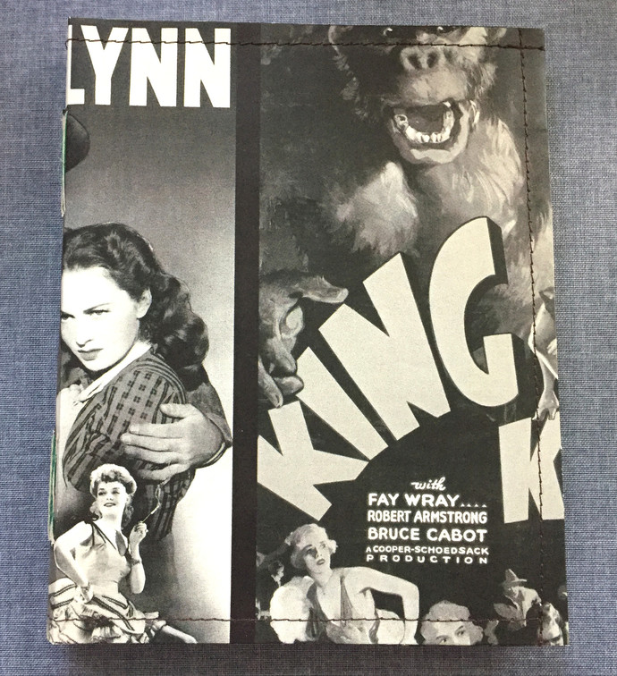 Handmade Notebook with wallpaper cover - King Kong & Errol Flynn 80 pages