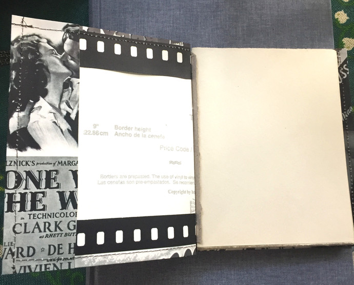 Handmade Notebook with wallpaper cover - Casablanca - Ingrid Bergman & Humphrey