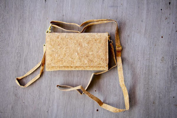 Handbag - Clutch made from recyclable cork, sustainable wallet, cork bag,