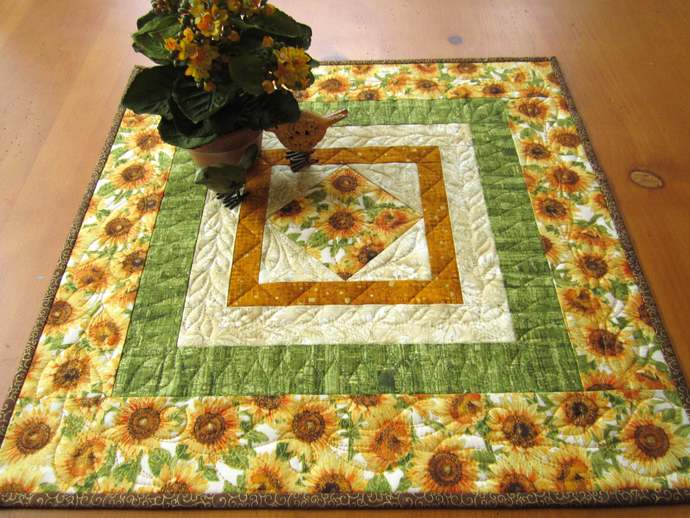 Table Topper Sunflowers Fall Home Decor