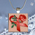 Pendant Necklace Red Ribbon (Diabetes Awareness)