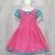 Hot Pink Girl Dress, Polka Dots Girl Dress, Aqua Dress, Spring Girl Dress, Aqua