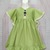Girl Green Dress, Green Linen Dress, Flower Girl Dress, Vintage Style Dress,