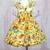 Dachshund Dog Dress, Girl Yellow Dress, Girl Dog Dress, Birthday Dress, Tea Time
