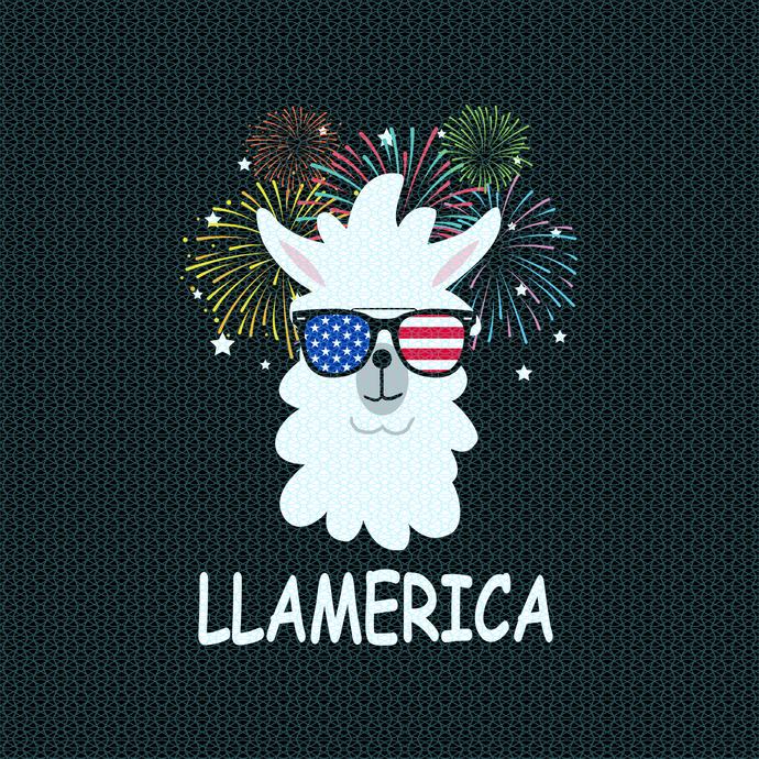 Llamerica, Llama mom gift, Llama funny birthday gift, gift for Llama mom, Llama