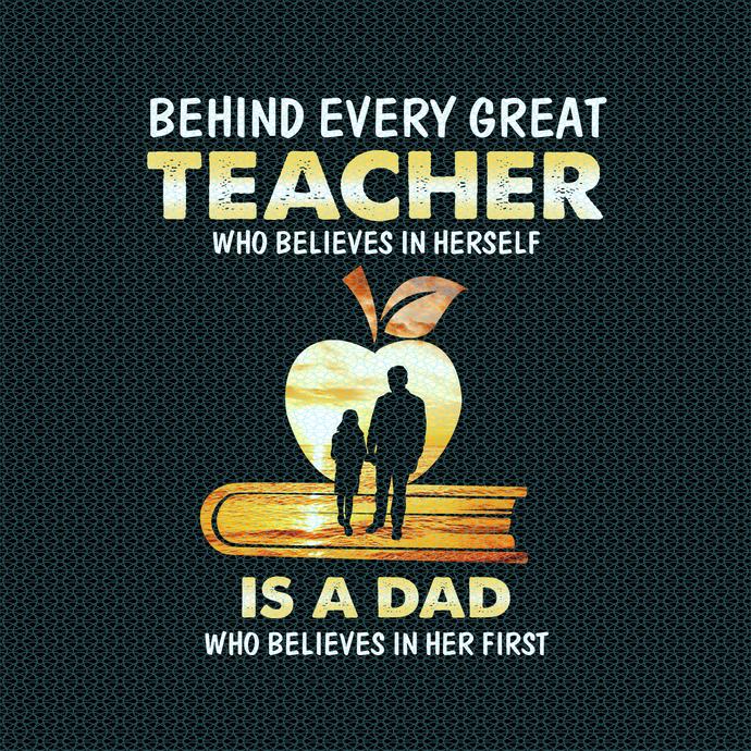 Behind every great teacher who believes in herself, Love teacherlife, Teacher