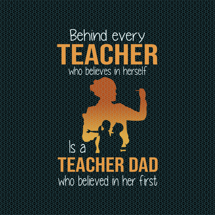 Behind every great teacher who believes in herself, Love teacherlife, Teacher