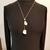 Gemstone necklace, quartz necklace white, gold tone chains necklace, wedding