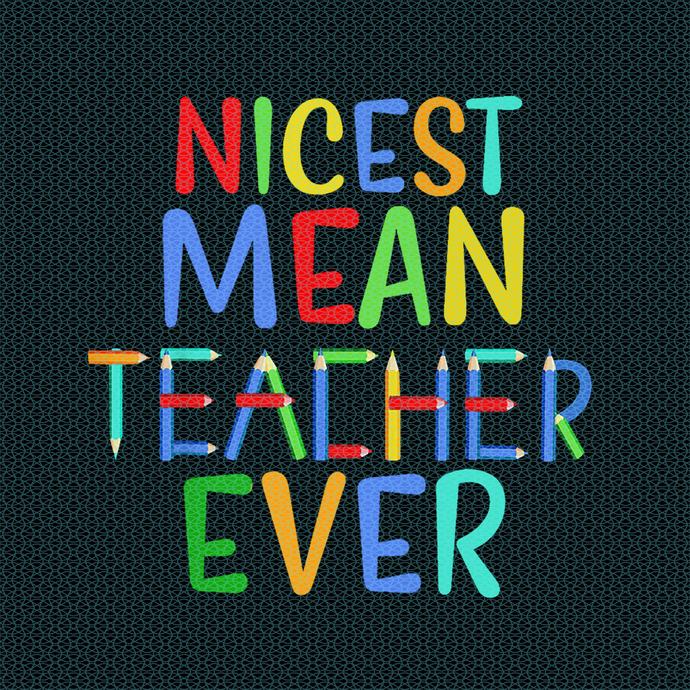 Nicest mean teacher ever, Teacher funny birthday gift, Teacher Appreciation