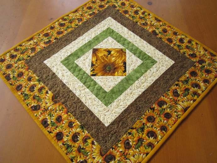 Table Topper Fall Sunflowers Handmade Gift