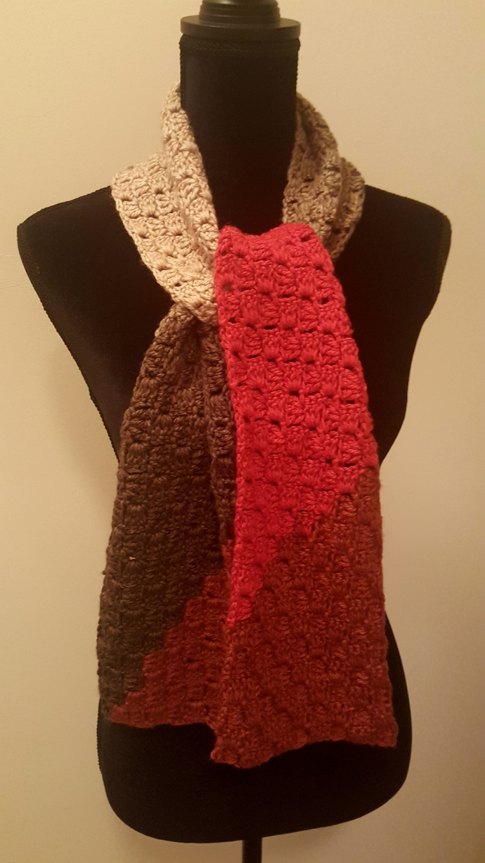 Crochet Scarf//Crochet Textured Scarf, Gift for Her