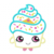 "Shopkins Embroidery Applique Designs ""Cupcake Queen"""