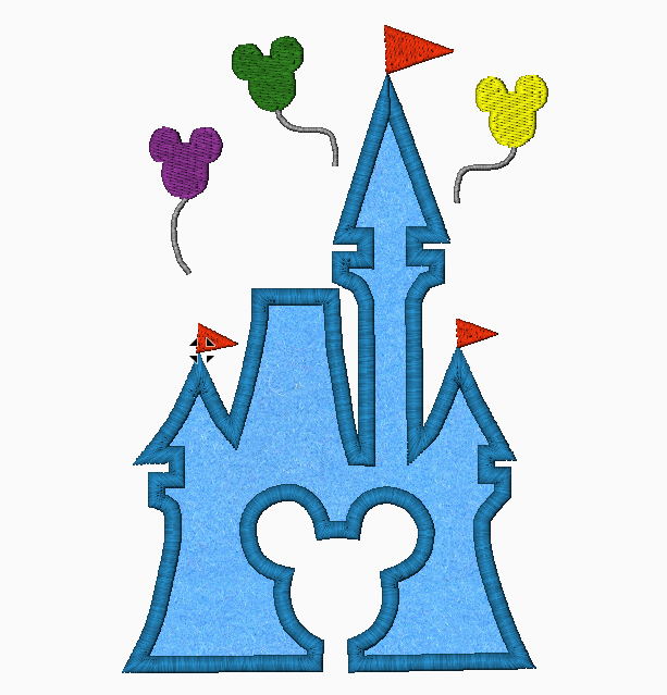 Disney Machine Embroidery Applique Designs - CASTLE