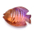 Ametrine Carved Fish Hand Polished Semi Precious Loose Gemstone.