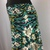 Black/Blue/Ivory Print Jersey Knit Skirt with Adjustable Tie Comfortable A-Line