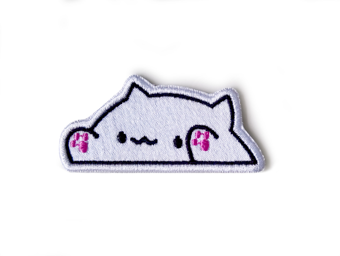 Bongo cat patch Meme patch Sew On Embroidered Patch