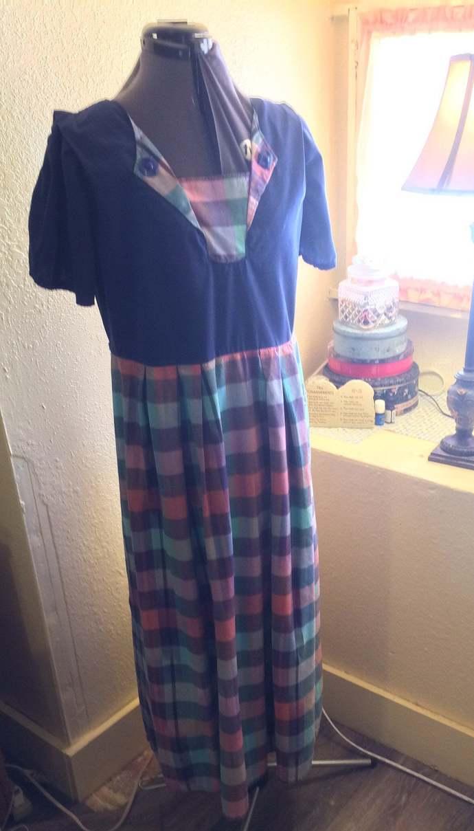 Budget Simple Pleated House Dress