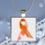 Pendant Necklace Orange Ribbon (Multiple Sclerosis Awareness)