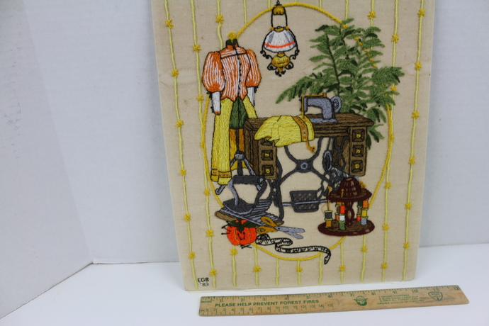Vintage Stitching of a Sewing Room. Perfect gift for the seamstress or quilter.
